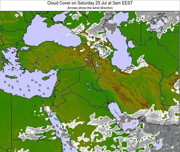 Syria Cloud Cover on Thursday 23 May at 3am EEST