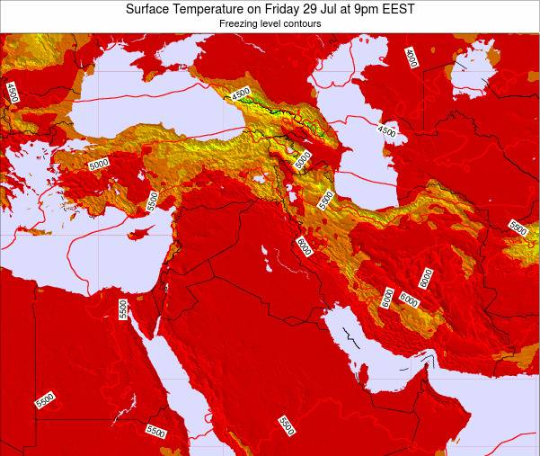 Israel Surface Temperature on Thursday 15 Dec at 2pm EET