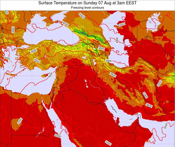 Israel Surface Temperature on Thursday 27 Apr at 9pm EEST
