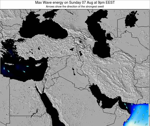 Iraq Max Wave energy on Sunday 26 May at 9am EEST map