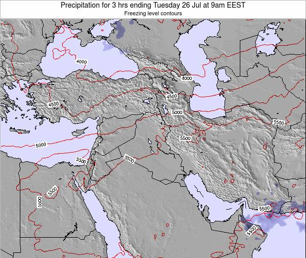 Iraq Precipitation for 3 hrs ending Monday 27 May at 3pm EEST map