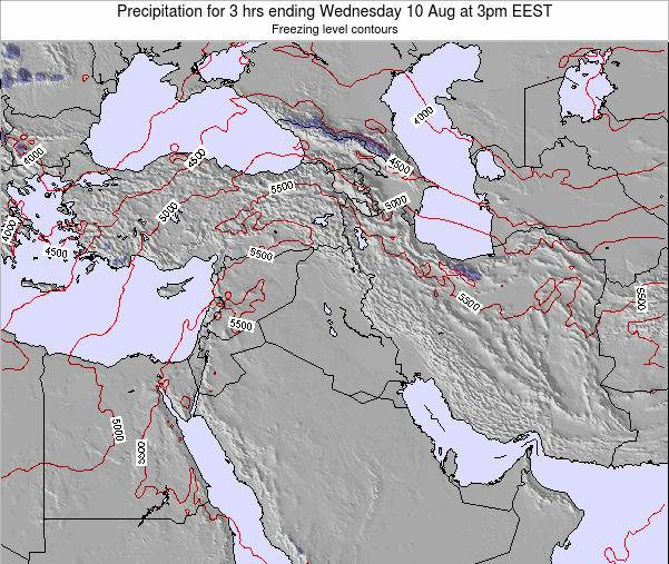 Syria Precipitation for 3 hrs ending Wednesday 12 Mar at 2pm EET