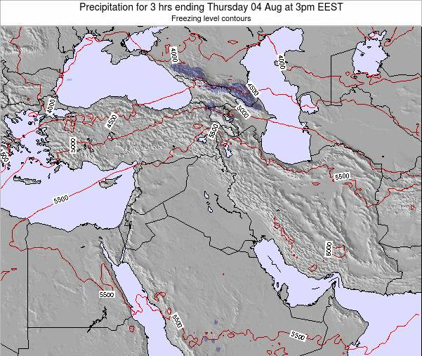Syria Precipitation for 3 hrs ending Tuesday 29 Apr at 3pm EEST