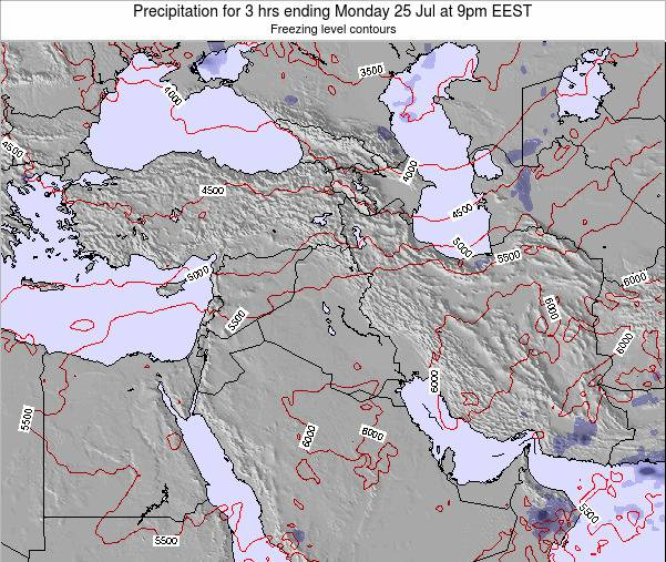 Syria Precipitation for 3 hrs ending Sunday 26 May at 9pm EEST