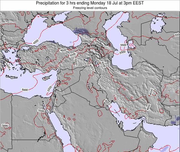 Syria Precipitation for 3 hrs ending Wednesday 30 May at 3pm EEST map
