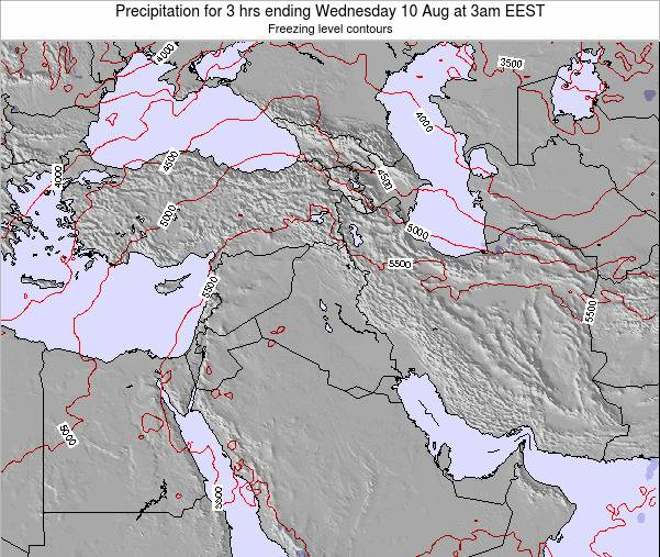 Syria Precipitation for 3 hrs ending Tuesday 24 Dec at 8am EET