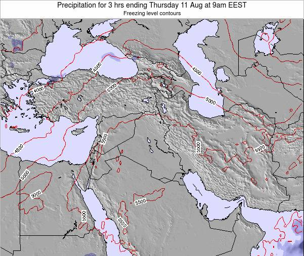 Syria Precipitation for 3 hrs ending Sunday 29 Jan at 8am EET
