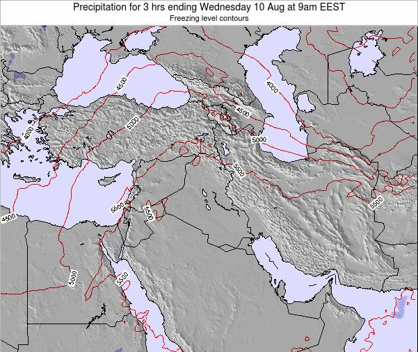 Syria Precipitation for 3 hrs ending Thursday 24 Apr at 9am EEST