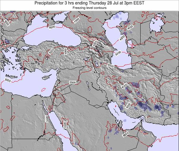 Syria Precipitation for 3 hrs ending Friday 24 May at 3pm EEST map