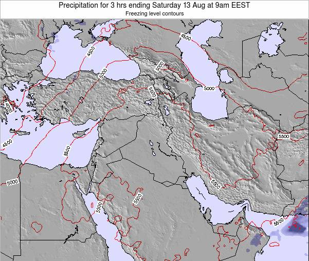 Syria Precipitation for 3 hrs ending Sunday 23 Jun at 3am EEST