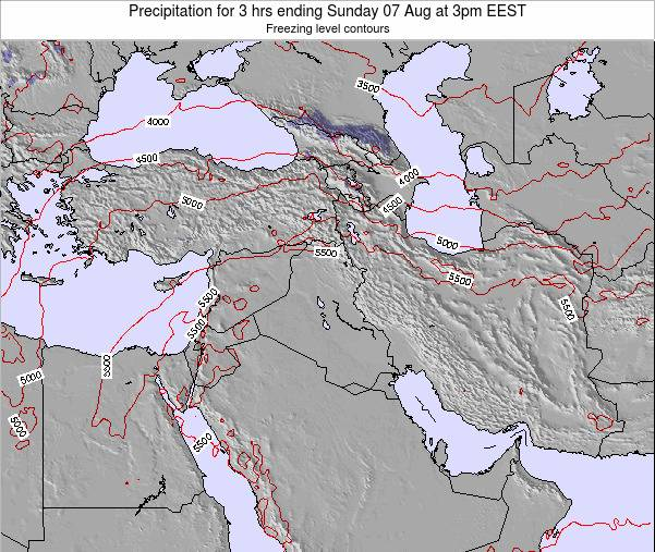 Syria Precipitation for 3 hrs ending Wednesday 11 Dec at 2am EET