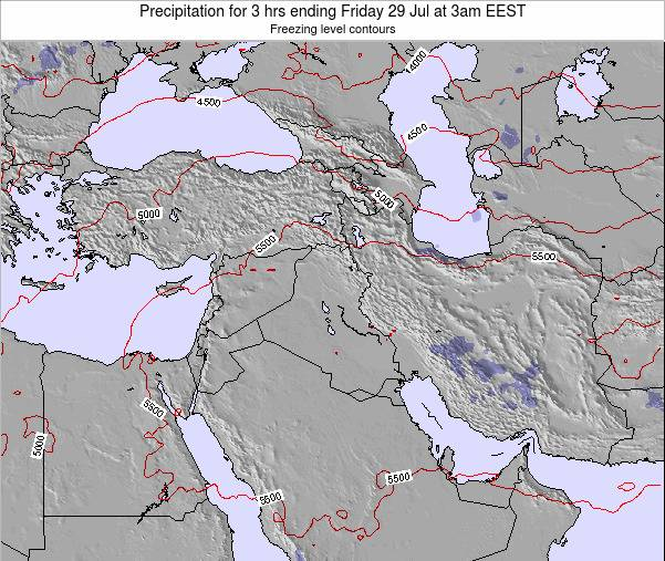 Syria Precipitation for 3 hrs ending Thursday 05 May at 3am EEST