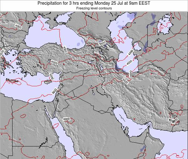Syria Precipitation for 3 hrs ending Thursday 30 May at 9pm EEST map