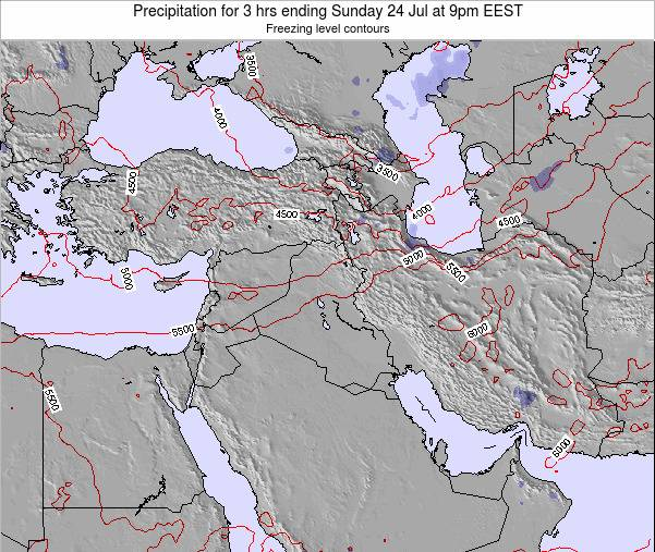 Syria Precipitation for 3 hrs ending Friday 01 May at 3pm EEST