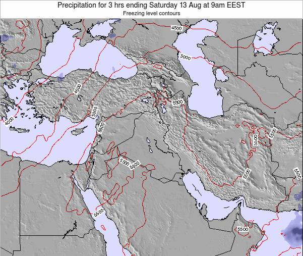 Syria Precipitation for 3 hrs ending Wednesday 29 May at 3pm EEST