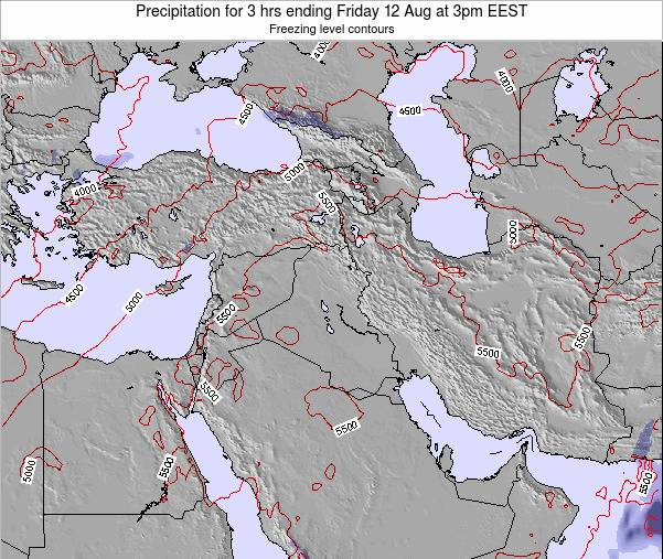Syria Precipitation for 3 hrs ending Saturday 14 Dec at 8pm EET