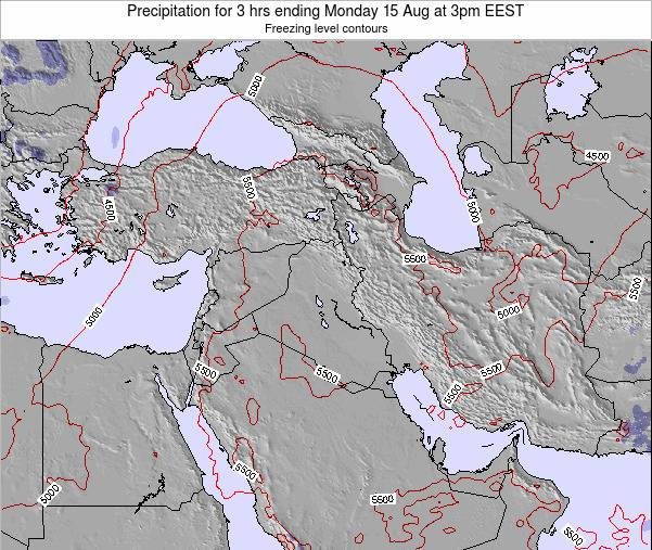 Syria Precipitation for 3 hrs ending Thursday 02 Mar at 2am EET
