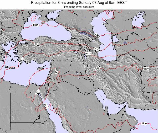 Syria Precipitation for 3 hrs ending Saturday 26 Apr at 9pm EEST