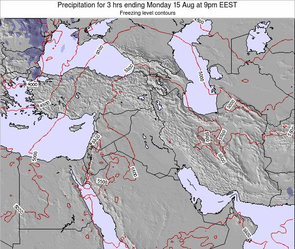 Syria Precipitation for 3 hrs ending Wednesday 30 Apr at 3pm EEST