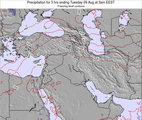 Syria Precipitation for 3 hrs ending Monday 27 May at 3am EEST map