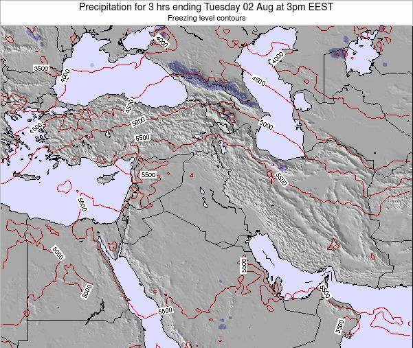 Iraq Precipitation for 3 hrs ending Wednesday 22 May at 9am EEST map
