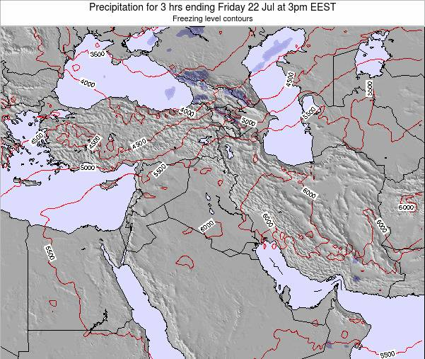 Iraq Precipitation for 3 hrs ending Wednesday 19 Jun at 9am EEST map