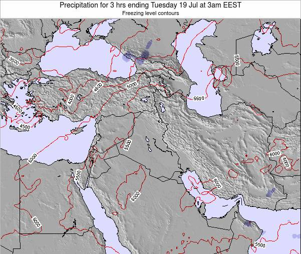 Syria Precipitation for 3 hrs ending Friday 21 Jun at 9am EEST map