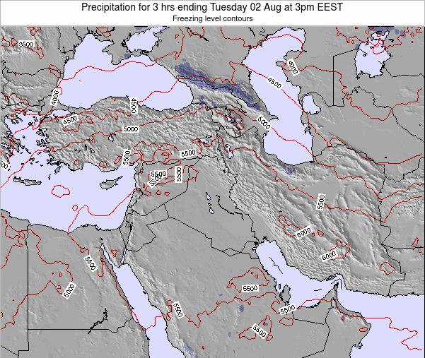 Syria Precipitation for 3 hrs ending Sunday 26 May at 3pm EEST map