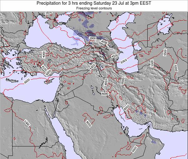 Syria Precipitation for 3 hrs ending Thursday 27 Nov at 8pm EET