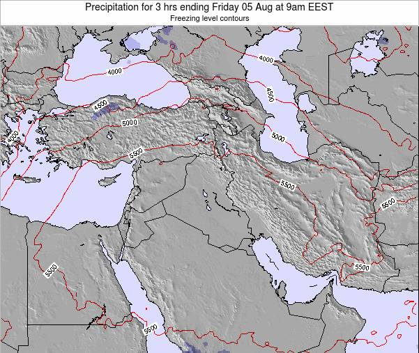 Syria Precipitation for 3 hrs ending Wednesday 18 Oct at 9pm EEST