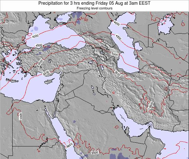Syria Precipitation for 3 hrs ending Sunday 09 Mar at 8pm EET