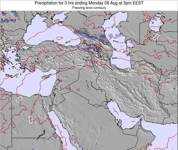 Syria Precipitation for 3 hrs ending Wednesday 22 May at 9pm EEST