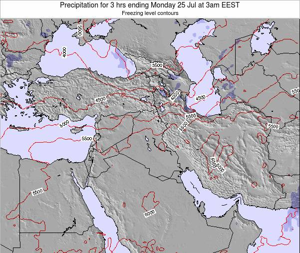 Syria Precipitation for 3 hrs ending Monday 21 Apr at 9am EEST