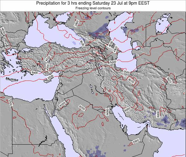Syria Precipitation for 3 hrs ending Saturday 06 Feb at 2pm EET