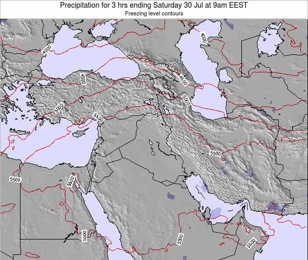 Syria Precipitation for 3 hrs ending Saturday 30 May at 3am EEST