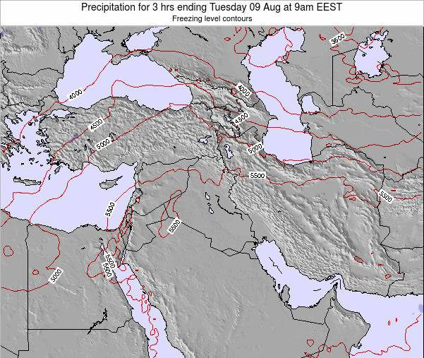 Syria Precipitation for 3 hrs ending Thursday 20 Jun at 9am EEST map