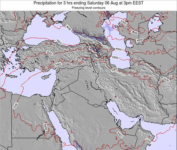 Syria Precipitation for 3 hrs ending Wednesday 22 May at 3pm EEST map