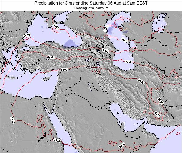Syria Precipitation for 3 hrs ending Friday 29 Sep at 3pm EEST