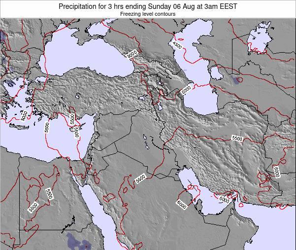Syria Precipitation for 3 hrs ending Thursday 23 Nov at 2pm EET map