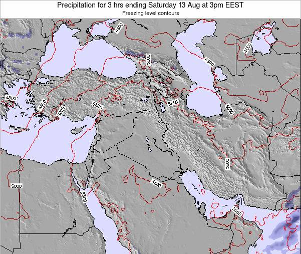 Syria Precipitation for 3 hrs ending Saturday 22 Jun at 3pm EEST map
