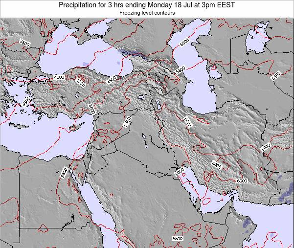 Syria Precipitation for 3 hrs ending Saturday 23 Sep at 9pm EEST