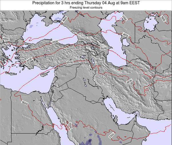 Syria Precipitation for 3 hrs ending Sunday 26 May at 3am EEST map