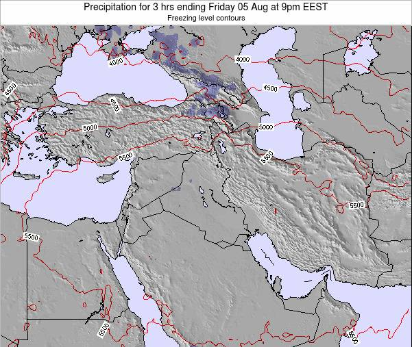 Iraq Precipitation for 3 hrs ending Saturday 25 May at 3pm EEST map