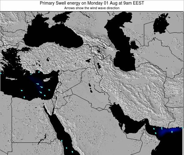 Syria Primary Swell energy on Tuesday 29 Jul at 3am EEST
