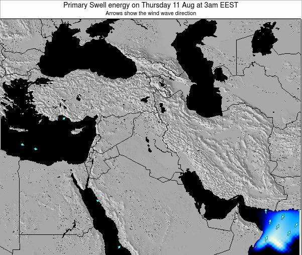 Lebanon Primary Swell energy on Monday 25 Aug at 9am EEST