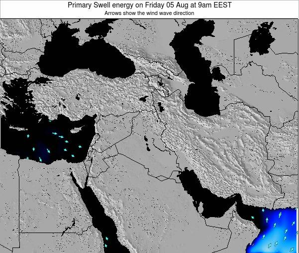 Syria Primary Swell energy on Tuesday 05 Aug at 9pm EEST