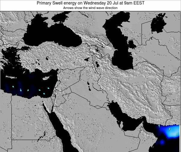 Syria Primary Swell energy on Wednesday 30 Jul at 3pm EEST