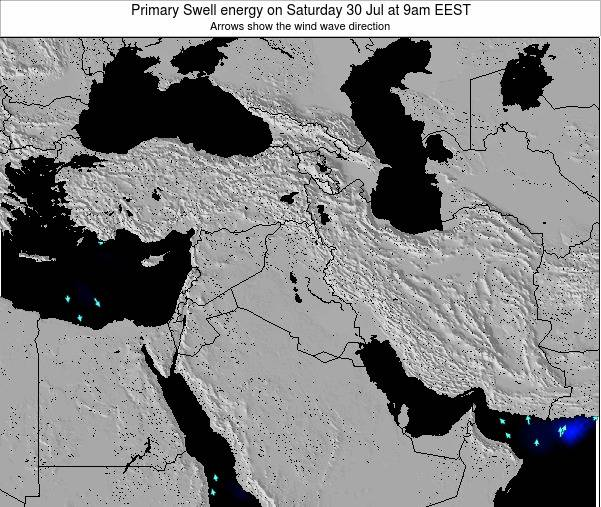 Syria Primary Swell energy on Sunday 03 Aug at 9pm EEST