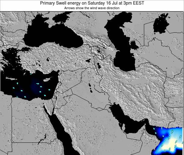 Lebanon Primary Swell energy on Monday 28 Jul at 9am EEST