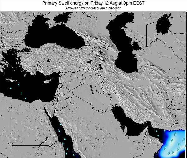 Lebanon Primary Swell energy on Friday 25 Jul at 3pm EEST